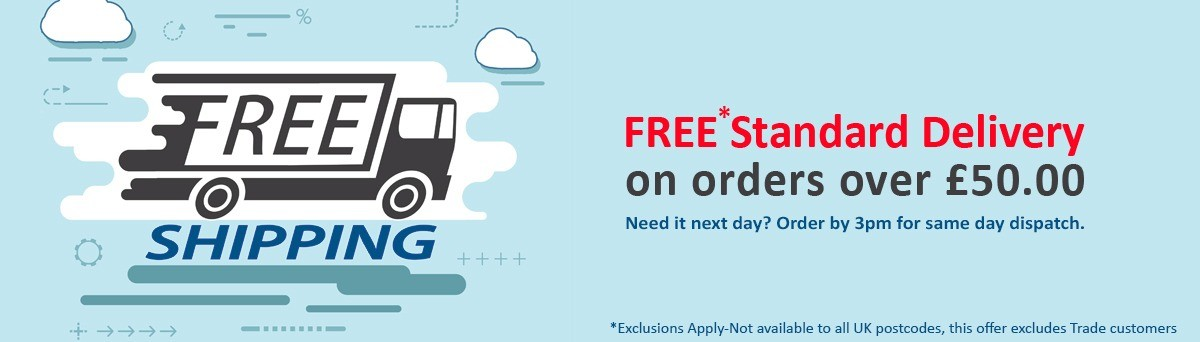 FREE standard UK delivery on orders over £50*